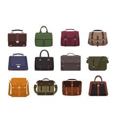 bundle of trendy men s handbags - cross body vector image vector image