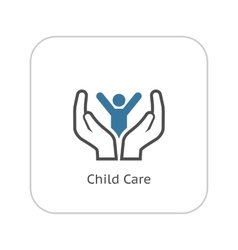 Child Care Icon Flat Design vector image vector image