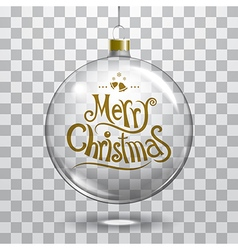 christmas glass ball on transparent background vector image