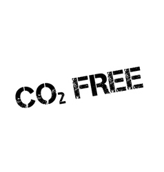 Co2 free rubber stamp vector