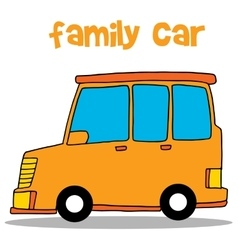 Collection stock of family car vector