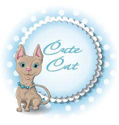 Cute cat sphinx vector