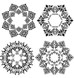Decorative floral design elements vector
