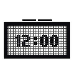Digital clock icon simple style vector