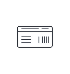 document whith barcode plane or train ticket thin vector image