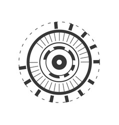 eyeball connection in the digital interface and vector image