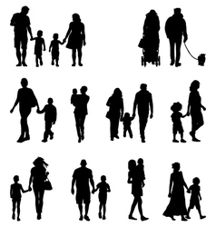 families vector image vector image