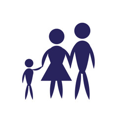 family father mother and son pictogram vector image vector image