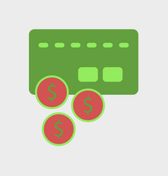 Flat icon of bank card vector