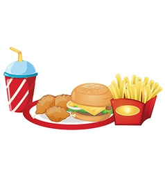 Foods from the fastfood restaurant vector