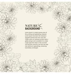 Frame of chrysanthemum vector