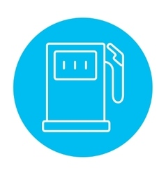 Gas station line icon vector