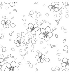 Graphic sakura pattern vector