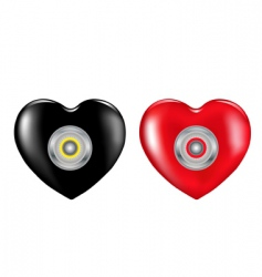 hearts and lock vector image vector image