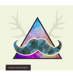 Hipster background with a mustache vector