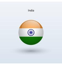 India round flag vector
