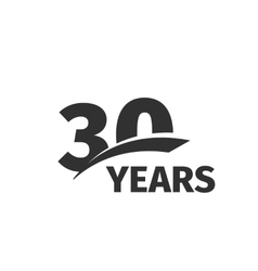 Isolated abstract black 30th anniversary logo on vector image