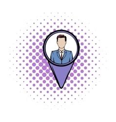 Location people comics icon vector