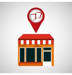 mobile phone bread shop locater vector image