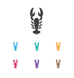 Of zoo symbol on lobster icon vector