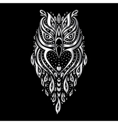 Owl tribal pattern vector
