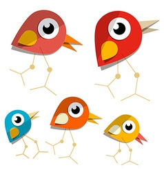 Paper Birds vector image