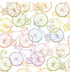 seamless multi colored bicycles vector image vector image