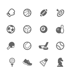 Simple Sport Equipment Icons vector image