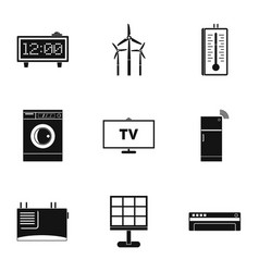 Smart home icon set simple style vector
