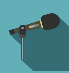 sound recording equipment icon flat style vector image