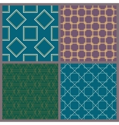 A set of geometric patterns vector