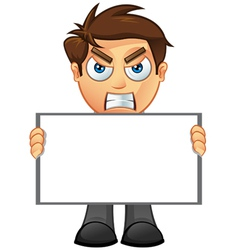 Business Man Blank Sign 2 vector image