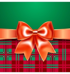 Template with ribbon bow vector
