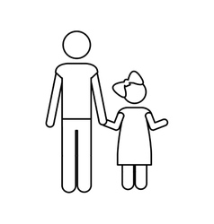 Father and child icon pictogram image vector