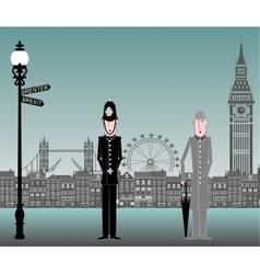 EU London England Brexit vector image