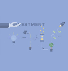 investment process background vector image