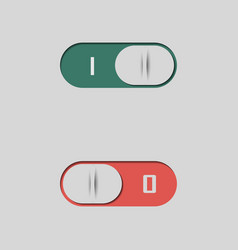A set of buttons and switches vector