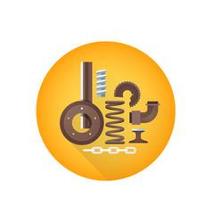 Metal scrap waste icon vector