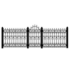 fence gate vector image