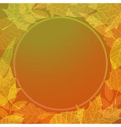Colourful autumn background vector