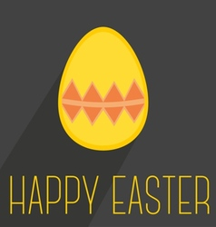Flat easter egg with wishes on dark background vector