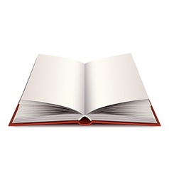 Opened modern book isolated vector