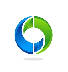 Circle infinity technology logo vector