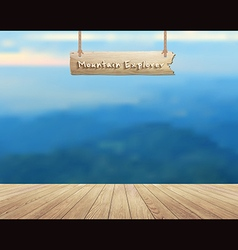 Mountain view summer landscape vector