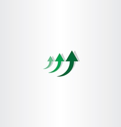 Green arrow chart growth logo vector