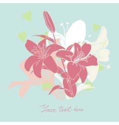 Floral card with place for your text vector