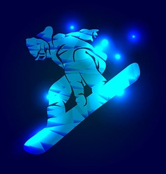 A snowboarder vector