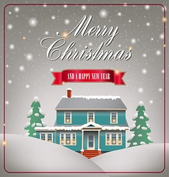 A cozy Christmas house vector image
