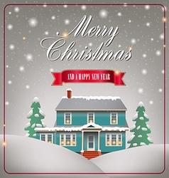 A cozy christmas house vector