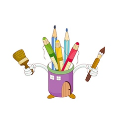 A view of pencil case vector